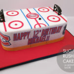 Montreal Canadiens Hockey rink cake