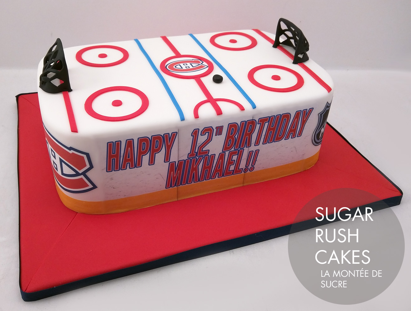 Montreal Canadiens Hockey rink cake