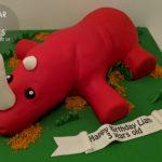 Red rhino cake