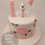 Pink Puppy dog cake