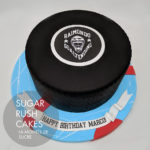 Hockey puck cake