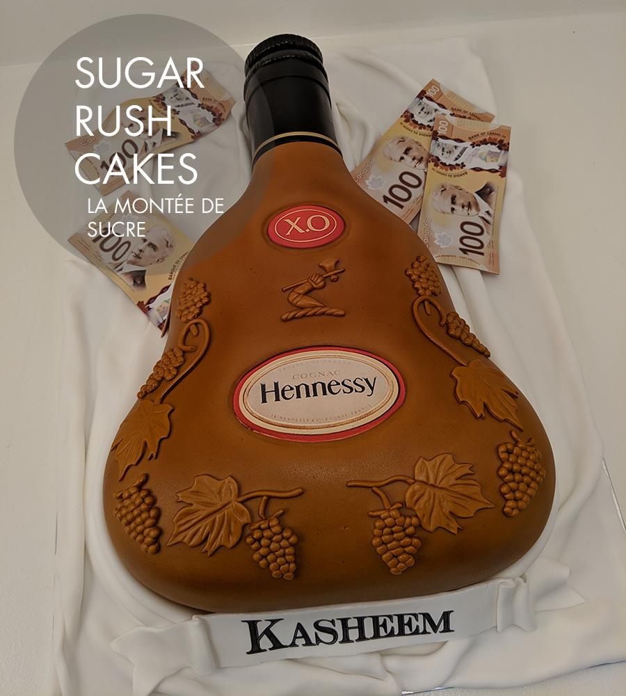 Hennessy bottle cake
