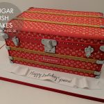 Louis Vuitton trunk cake
