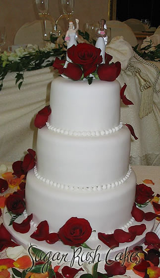 montreal wedding cake bakeries wed 3t white red rose fresh 17530