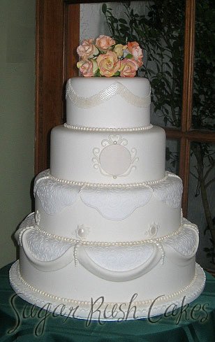 wedding cakes montreal wed 4t white pearls 25049