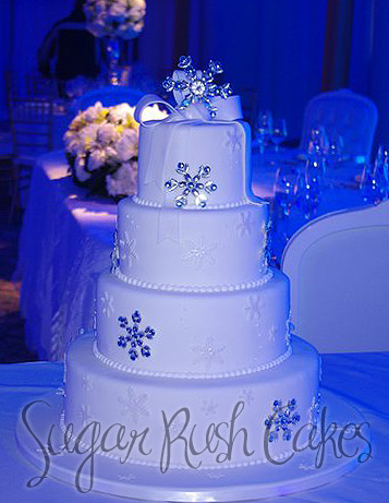 wedding cakes montreal wed winter theme 25049