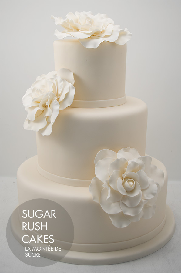 Giant Rose Wedding Cake