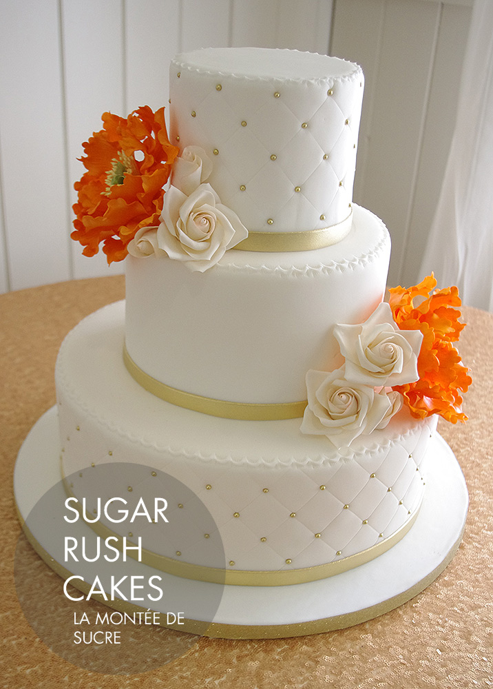 wedding cakes montreal orange peonies wedding cake 25049