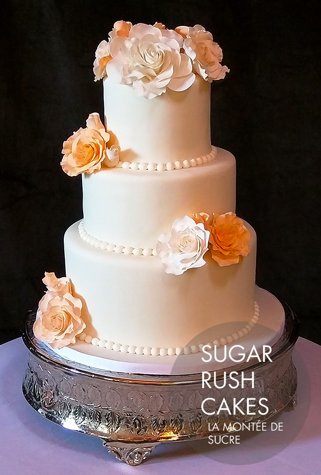 wedding cakes montreal ivory wedding cake 25049